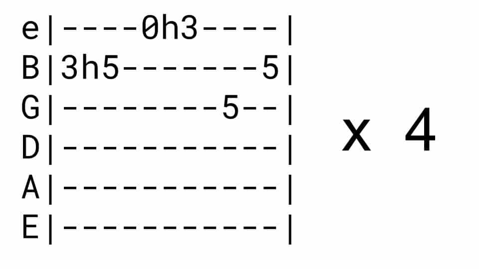 Riptide Guitar Riff