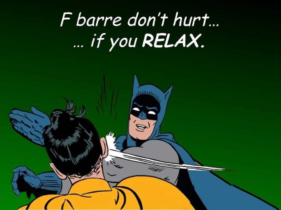 Easy F Barre Chord