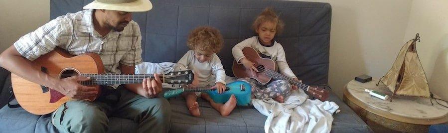 Austin, Lulu, Nio - Guitars and Ukulele