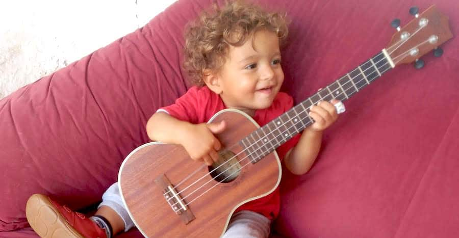 Baby Nio Shreds the Uke